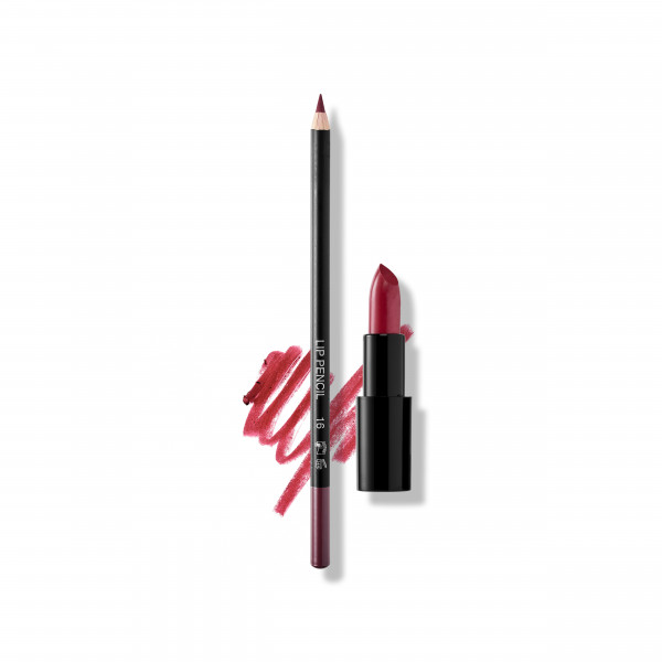 Set Merlot Lips: Lip Pencil No. 16, Lipstick Sheer No. 417 Russian Ruby