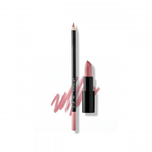 Set Candice's Lips: Lip Pencil No. 05, Lipstick Satin Cover No. 33 Candy