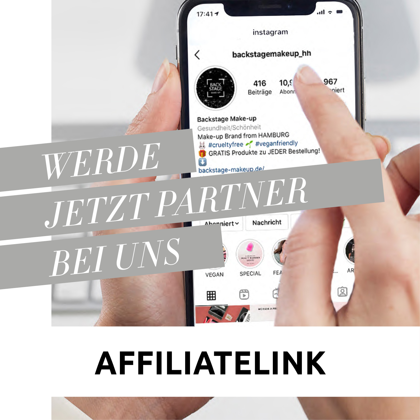 Affiliatelinks - Backstage's Partnerprogramm