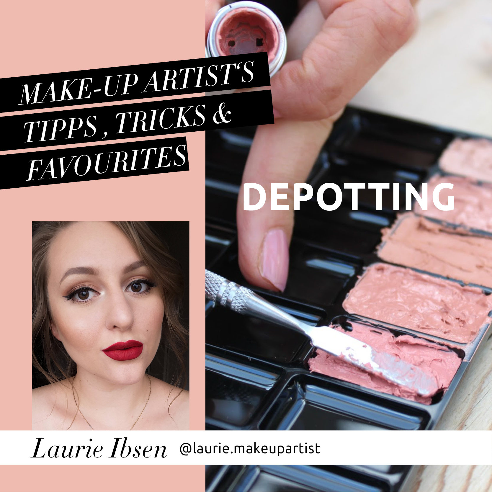 Laurie's perfekt organisiertes Make-up Kit