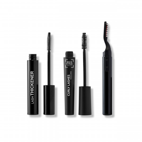 Big Lashes Set: Lash Thickener, Curly Lashes Mascara, Thermo Wimpernformer