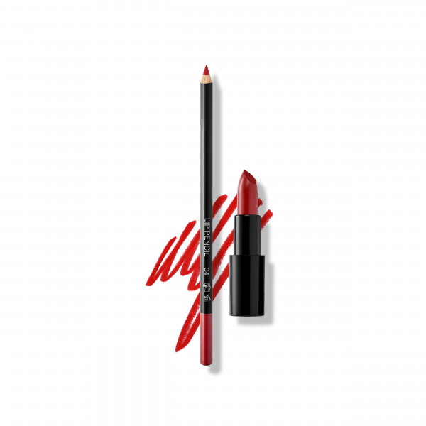Set Perfect Red Lips: Lip Pencil No. 04, Lipstick Satin Cover No. 429 Burlesque